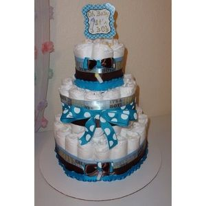 Oh baby it's a boy diaper cake (3 tier)